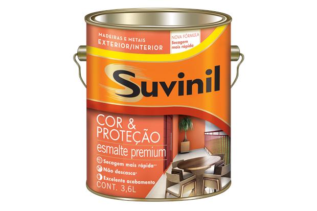 Tinta Esmalte Premium Acetinada Cor & Proteção Platina 3,6 Litros - Suvinil