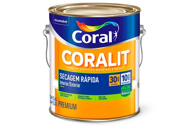 Tinta Esmalte Premium Acetinada Coralit Zero Branco 3,6 Litros - Coral