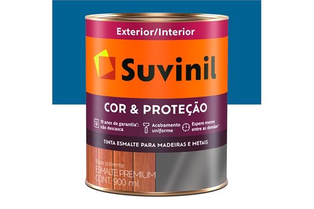 Tinta Esmalte Premium Brilhante Cor & Proteção Azul França 900ml - Suvinil