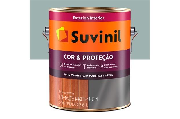 Tinta Esmalte Premium Brilhante Cor & Proteção Cinza Médio 3,6 Litros - Suvinil