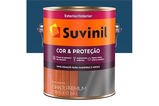 Tinta Esmalte Premium Brilhante Cor & Proteção Del Rey 3,6 Litros - Suvinil