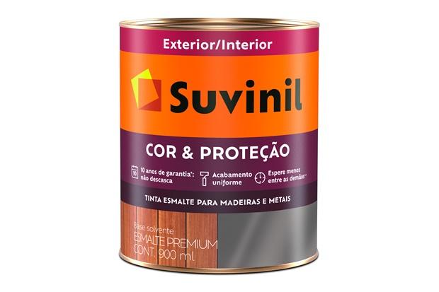 Tinta Esmalte Premium Brilhante Cor & Proteção Marrom 900ml - Suvinil