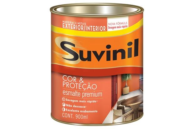 Tinta Esmalte Premium Brilhante Cor & Proteção Platina 900ml - Suvinil