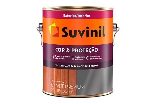 Tinta Esmalte Premium Brilhante Cor & Proteção Verde Folha 3,6 Litros - Suvinil