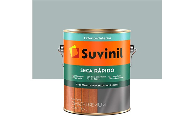 Tinta Esmalte Premium Brilhante Seca Rápido Platina 3,6 Litros - Suvinil