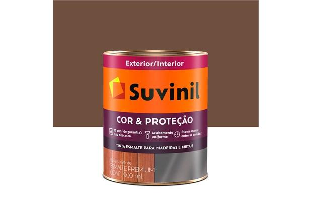 Tinta Esmalte Premium Brilhante Seca Rápido Tabaco 900ml - Suvinil