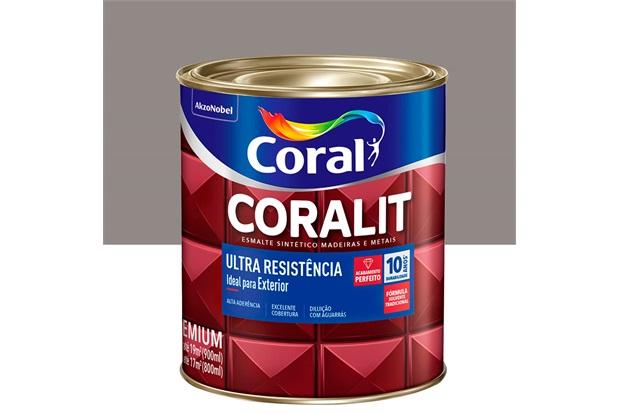 Tinta Esmalte Sintético Premium Brilhante Coralit Tradicional Alumínio 900ml - Coral