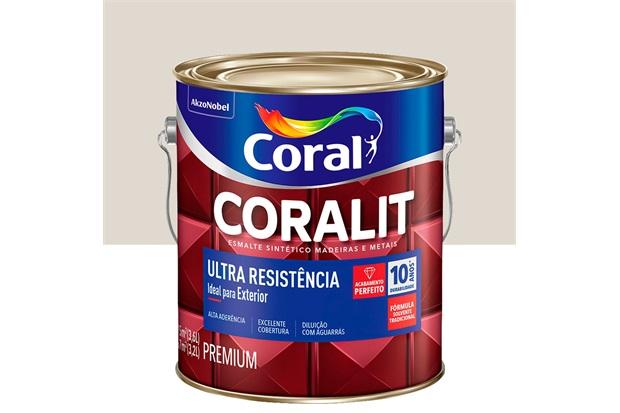 Tinta Esmalte Sintético Premium Brilhante Coralit Tradicional Gelo 3,6 Litros - Coral
