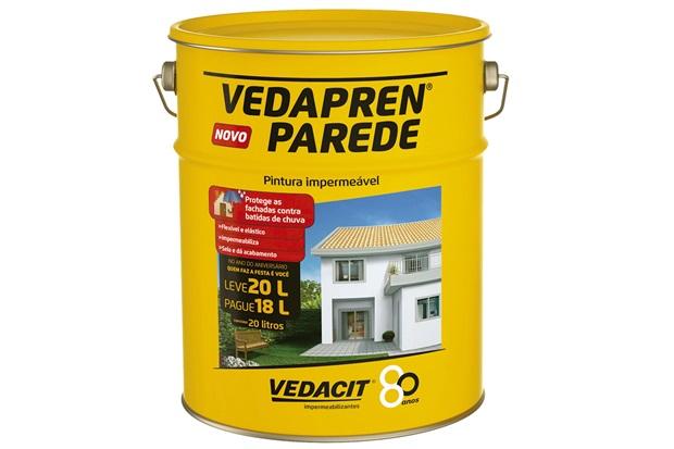 Tinta impermeabilizante vedapren parede branco 20 litros - Impermeabilizante para paredes ...