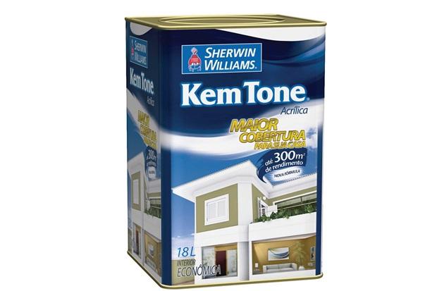Tinta Kemtone Vinil Acrílica Branco 18 Litros - Sherwin Williams