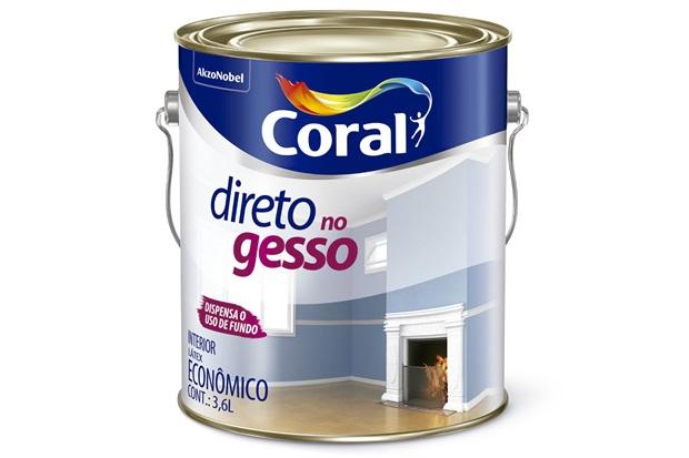 Tinta Látex Direto No Gesso Branco 3,6 Litros - Coral