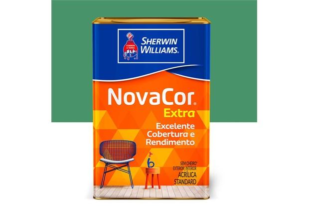 Tinta Novacor Acrílica Fosco Verde Primavera 18 Litros - Sherwin Williams