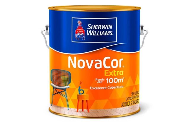 Tinta Novacor Acrílica Fosco Verde Primavera 3,6 Litros - Sherwin Williams