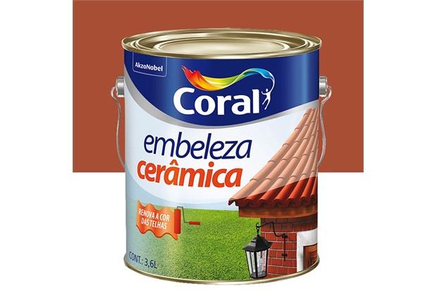 Tinta para Cerâmica Branco 3,6 Litros - Coral