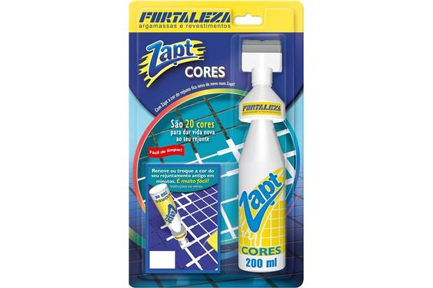 Tinta para Rejunte Zapt Cores Platina 200ml - Fortaleza