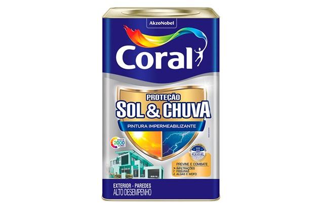 Tinta Proteção Sol E Chuva Branco 18 Litros  - Coral