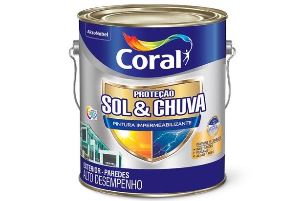 Tinta Proteção Sol E Chuva Impermeabilizante Branca 3,6 Litros - Coral