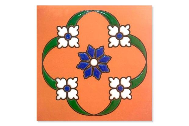 Toseto Cerâmico Floral Lotus 11,5x11,5cm com 1 Peça - Fênix