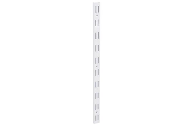 Trilho Duplo em Aço para Prateleira 50cm Branco - Multivisão