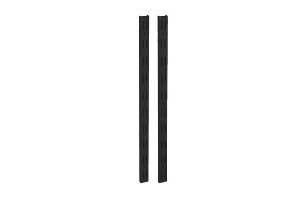 Trilho Duplo em Aço para Prateleira Decore 150cm Preto - Multivisão