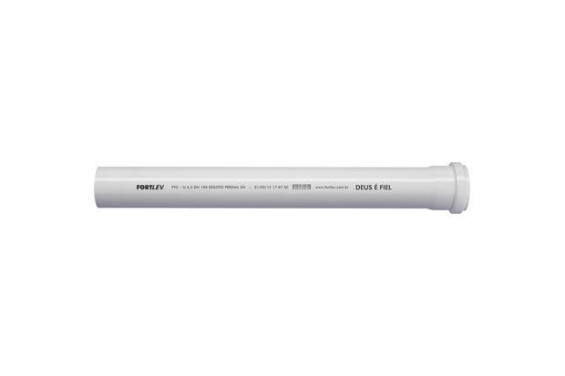 Tubo de Esgoto Série Normal 50mm com 3 Metros Branco - Fortlev