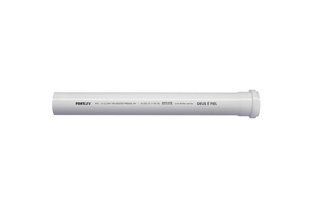 Tubo de Esgoto Série Normal 75mm com 3 Metros Branco - Fortlev