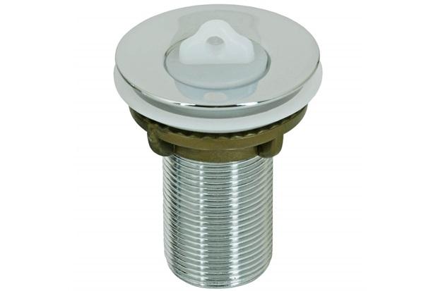 """Válvula de Escoamento para Lavatório 2.3/8"""" com Tampa em Plástico Cromada - GTRES"""