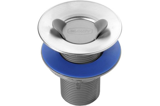 Válvula de Escoamento para Lavatório 7/8''X70mm com Aba 55mm - Blukit