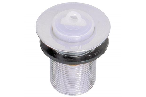 """Válvula de Escoamento para Tanque 1.1/2"""" com Tampa em Plástico Cromada - GTRES"""