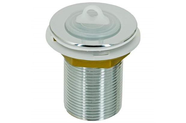 """Válvula de Escoamento para Tanque 2.3/8"""" com Tampa em Plástico Cromada - GTRES"""