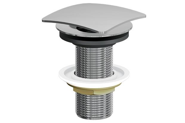 Válvula Quadrada para Lavatório Click Cromada - Fani Metais