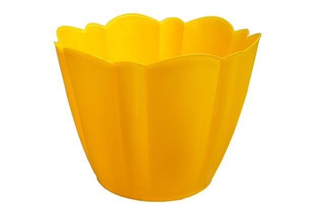 Vaso Cachepot Grande Amarelo - West Garden