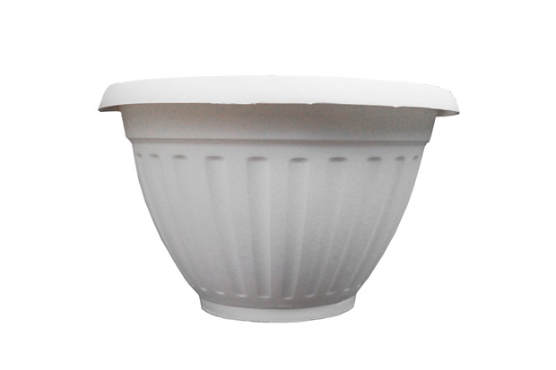 Vaso de Parede com Prato Denise 30cm Branco - West Garden