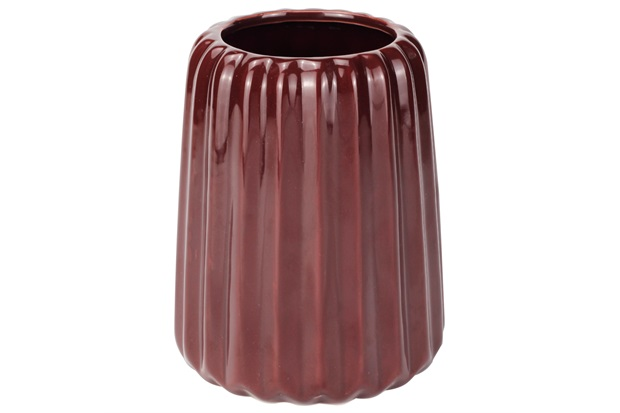 Vaso Decorativo em Cerâmica 11x14cm Vermelho - Casanova