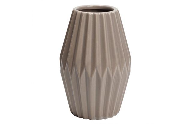 Vaso Decorativo em Dolomita 11x16cm Cinza - Casanova