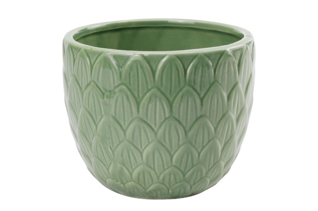 Vaso em Cerâmica 12x10cm Verde - Casanova