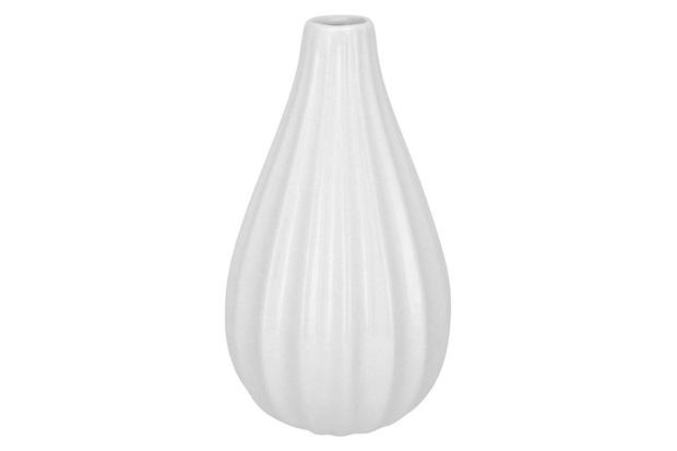 Vaso em Cerâmica Home&Co Berce 15,5x9cm Branco - GS