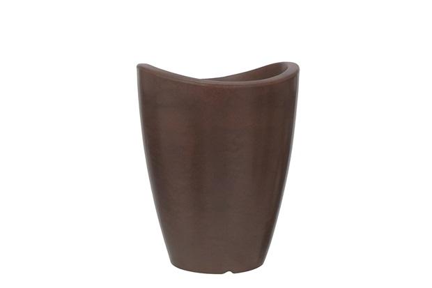 Vaso em Polietileno Cone Copacabana 25x32cm Rusty - Vasart