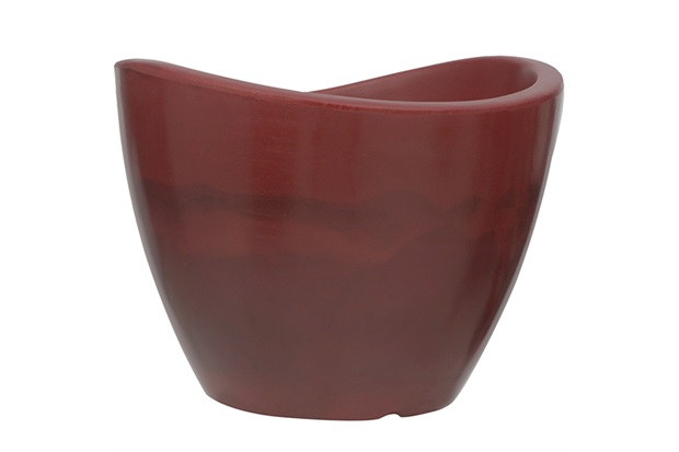 Vaso em Polietileno Cone Copacabana 30x23cm Antique Vermelho - Vasart