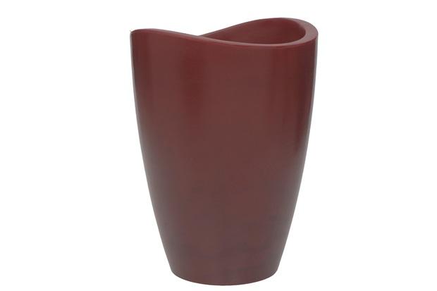 Vaso em Polietileno Cone Copacabana 30x40cm Antique Vermelho - Vasart