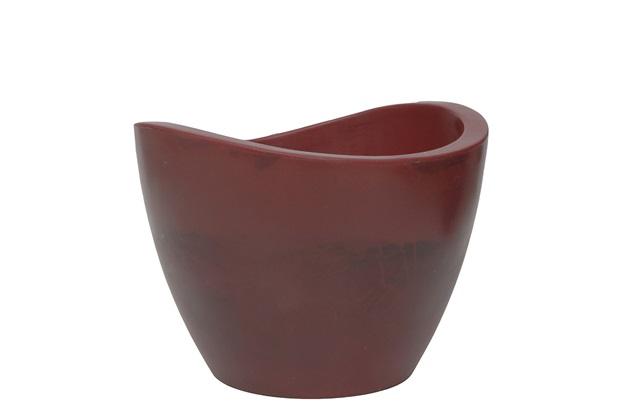 Vaso em Polietileno Cone Copacabana 40x30cm Antique Vermelho - Vasart