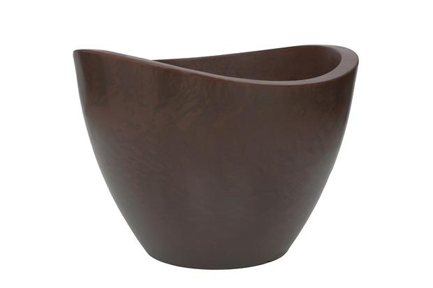 Vaso em Polietileno Cone Copacabana 65x45cm Rusty - Vasart