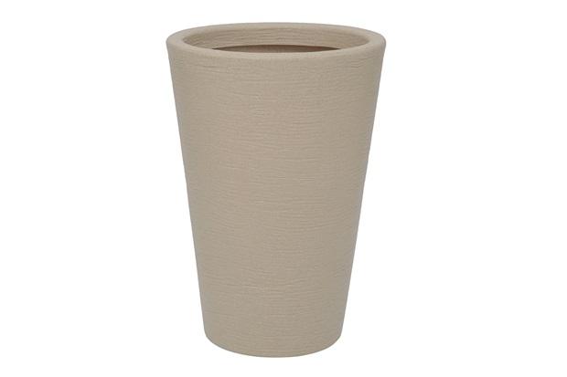 Vaso em Polietileno Cone Terra 38x55cm Areia - Vasart