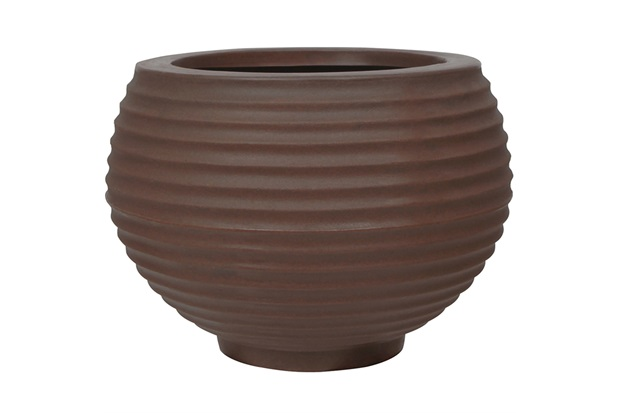 Vaso em Polietileno Oval Bromélia 26cm Rusty - Vasart