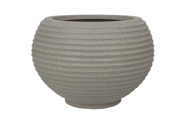 Vaso em Polietileno Oval Bromélia 32cm Pedra - Vasart