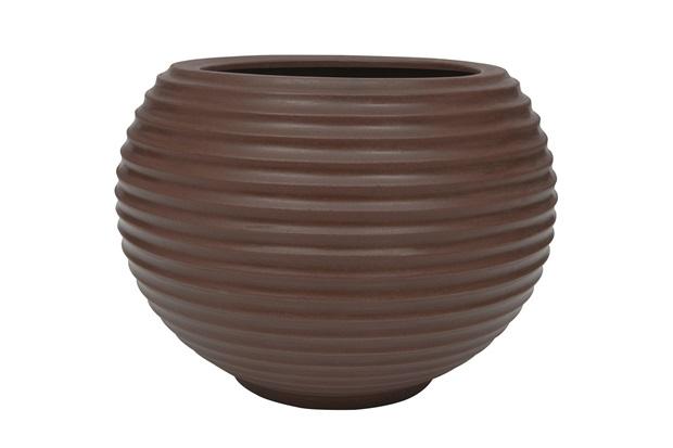 Vaso em Polietileno Oval Bromélia 36cm Rusty - Vasart