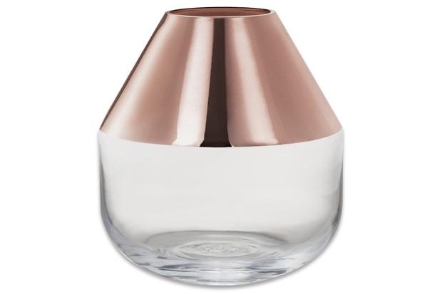 Vaso em Vidro 12x11cm Rose Gold - Mart