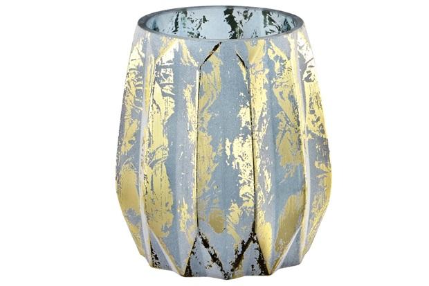 Vaso em Vidro 13x12cm Azul - Mart