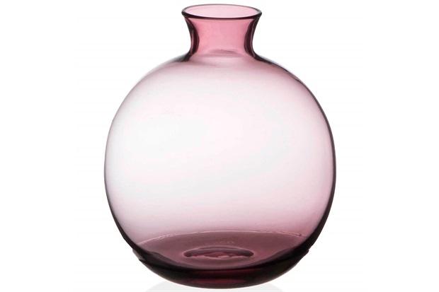 Vaso em Vidro Malaga Roxo 13cm - Casa Etna