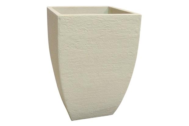 Vaso Moderno Quadrado Cimento 54cm - Japi